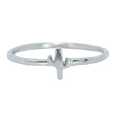 Pura Vida 美國手工 仙人掌造型銀色戒指