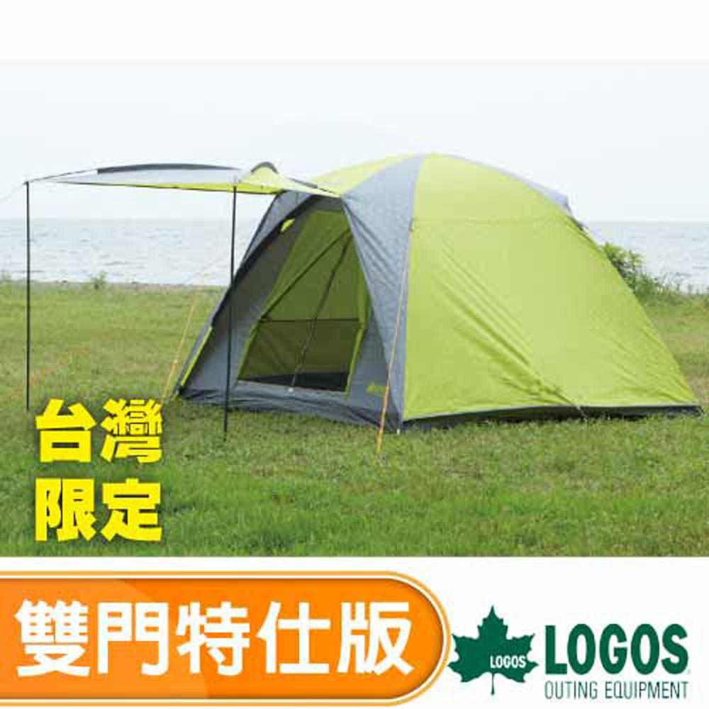 【日本 LOGOS】台灣限定 新款雙門雙色限量 5~6人四季型帳蓬