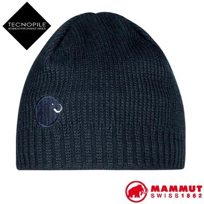 長毛象 Sublime Beanie 超輕彈性雙層針織保暖羊毛帽/毛線帽_海洋藍