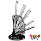固鋼 一體成形高級420醫療級安全不鏽鋼刀具7件組(五刀+刀座+剪刀)