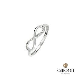 amoon 浪漫艾菲爾系列 天長地久 K金鑽石戒指
