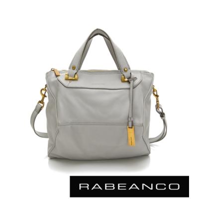 RABEANCO OL時尚粉領系列菱形包(小)淺灰