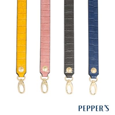 PEPPER S Rebellion 牛皮鱷魚紋背帶 - 4色