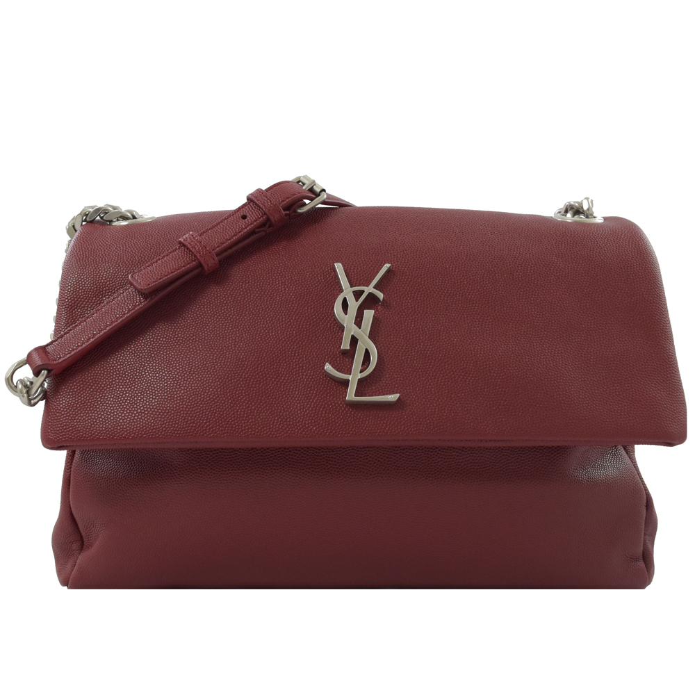 YSL Saint Laurent West Hollywood牛皮斜背鍊包(紅)