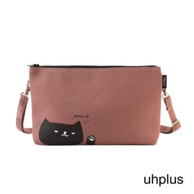 uhplus 多層斜背包-喵日常 whats up(粉色)