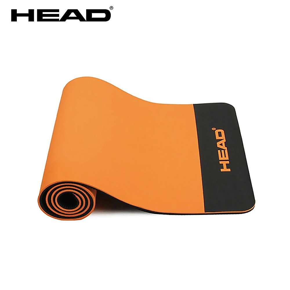 POE創新環保瑜珈墊_12mm (橘黑) 附提袋