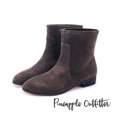Pineapple Outfitter-SWAY 森林氣息原色真皮舒適短靴-絨咖色