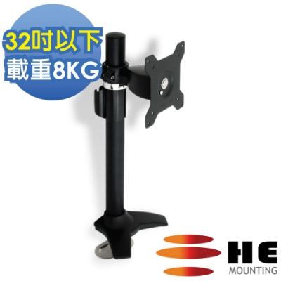 HE 鋁合金多功能穿桌型螢幕支架 - H011Ti (適用32吋以下LED/LCD)