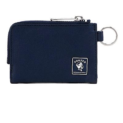 PORTER - 復刻新作MILKY+復古L型卡片零錢包 - 深藍