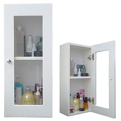 Abis 經典單門防水塑鋼浴櫃/置物櫃1入(2色可選)
