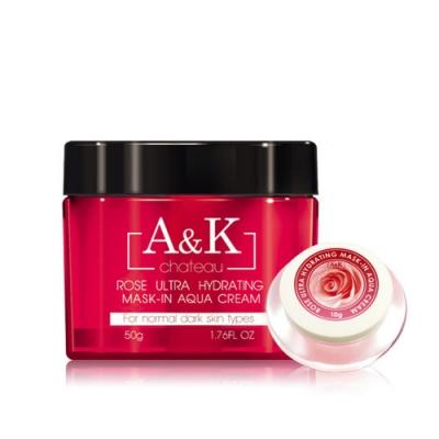 (買大送小) A&K亞珂夏都 月玫瑰超保水晚安凍膜50g 再贈 玫瑰凝膜 10g乙瓶
