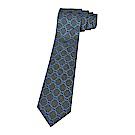 GUCCI經典緹花LOGO蠶絲菱格紋設計領帶(海軍藍)