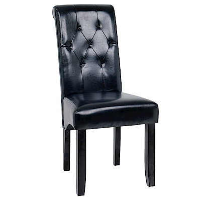 AS-若伊胡桃黑皮餐椅-47x63x100cm