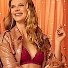 黛安芬-花樣年華系列記憶枕深V B-C罩杯內衣 柔霧紅