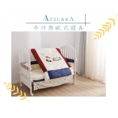義大利AZZURRA歐式牛仔熊寢具(五件式)- M號 或 L號