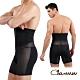 Charmen NY147可調式三段排扣收腹塑腰提臀褲 男性塑身褲 黑色 product thumbnail 1