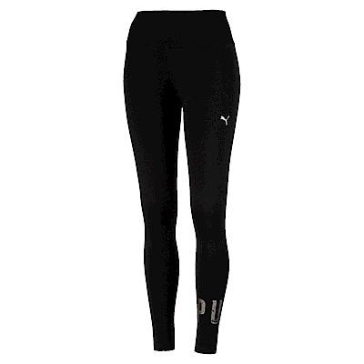 PUMA-女性基本系列運動風緊身褲-黑色-歐規