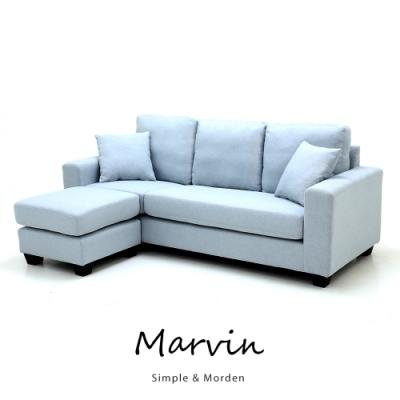 obis MARVIN自然風L型布沙發(四色)