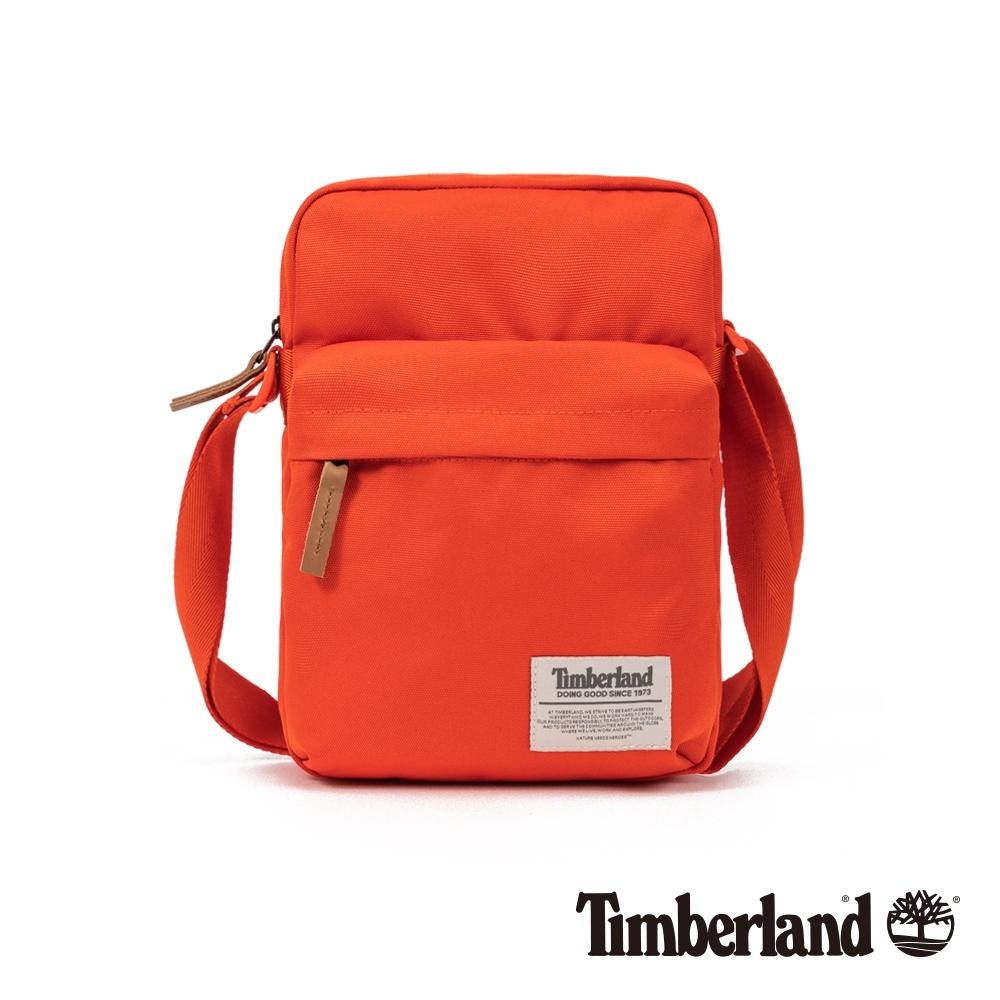 Timberland 中性亮橙色休閒斜背包|A1D1Y