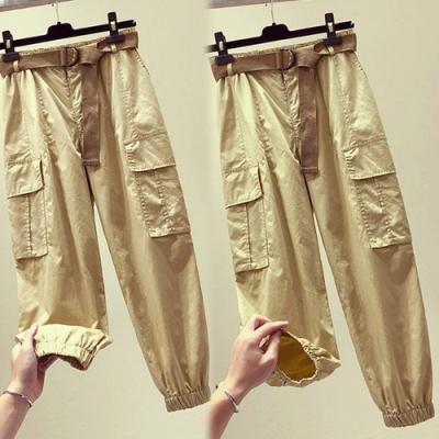 【韓國K.W.】(預購)舒適主打收口修身褲-3色