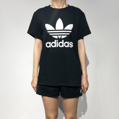 ADIDAS BOYFRIEND TEE 女短袖上衣-黑-DX2323