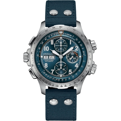 Hamilton 漢米爾頓 卡其航空計時機械錶-45mm H77906940