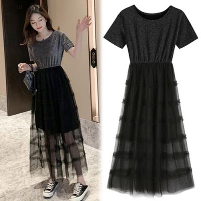 【韓國K.W.】(預購)焦點紗裙仙女洋裝-1色