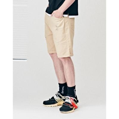 【時時樂限定】NAVY-斜紋刷破短褲(三色)
