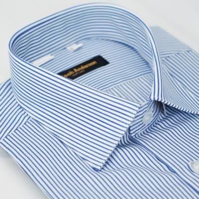 【金‧安德森】藍白條紋窄版短袖襯衫fast