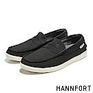 HANNFORT CARIBBEAN編織網布氣墊樂福鞋-男-石墨黑