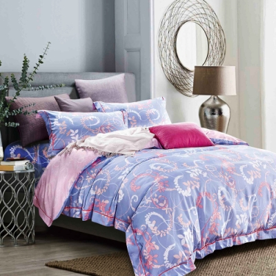 Saint Rose 瑪奇朵-灰 加大天絲+3M專利吸濕排汗 枕套床包三件組