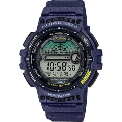 CASIO 卡西歐 釣魚專家 10年電力手錶(WS-1200H-2A)