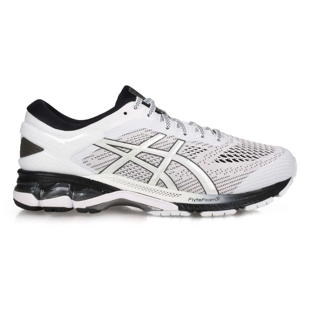 ASICS GEL-KAYANO 26 男慢跑鞋-亞瑟士 亞瑟膠 1011A541-101 白淺灰黑