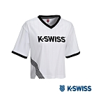 K-SWISS Tricot T-ShirtV領棒球T恤-女-白