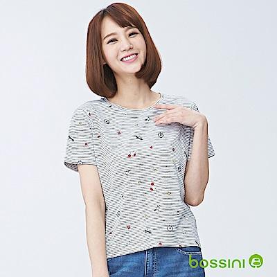 bossini女裝-圓領短袖上衣01淡灰