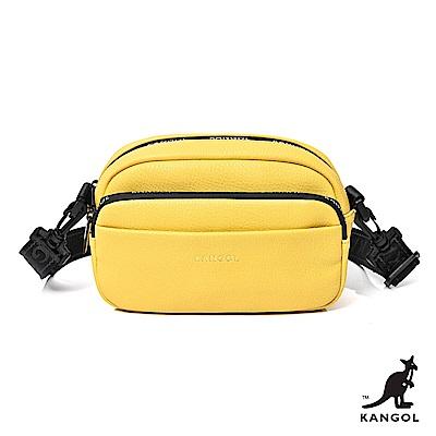【KANGOL】英式潮流-玩色系列側背包-黃