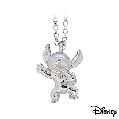 Disney迪士尼系列金飾 立體純銀墜子-焦點史迪奇款 送項鍊