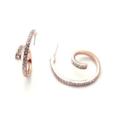 STORY故事銀飾-氣質時尚耳環-Spiral晶鋯耳環