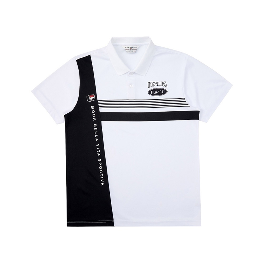 FILA 男短袖POLO衫-白色 1POV-1704-WT