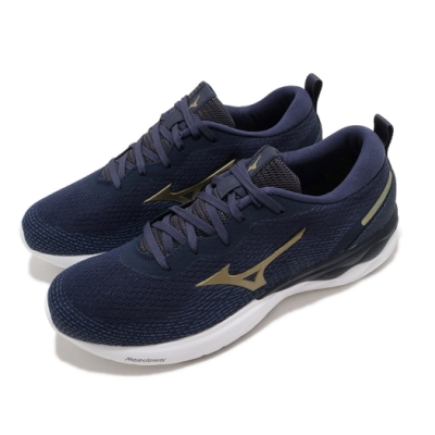 Mizuno 慢跑鞋 Wave Revolt 運動 男鞋 美津濃 輕量 透氣 舒適 避震 路跑 藍 白 J1GC208147