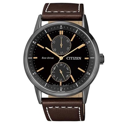 CITIZEN 個性時尚光動能腕錶/皮帶BU3027-16E