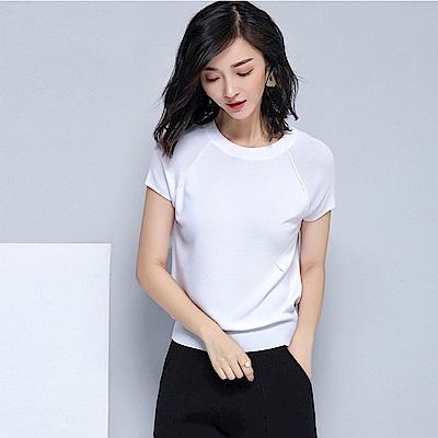 綻放 純色露背針織衫-共2色(M-XL可選)