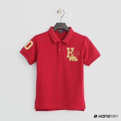 Hang Ten-童裝-logo刺繡POLO杉-紅