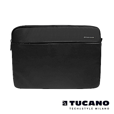 TUCANO Macbook 13吋義大利真皮內袋Fina Premium-黑色