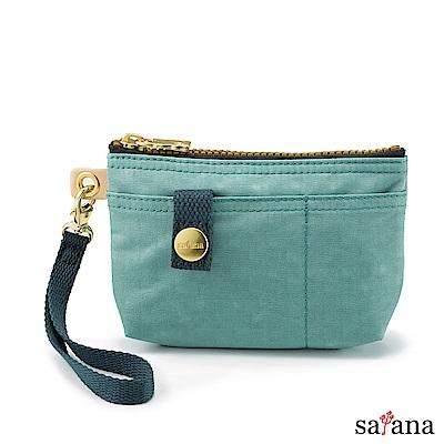 satana - Soldier 實用拉鍊化妝包/零錢包 - 礦石藍
