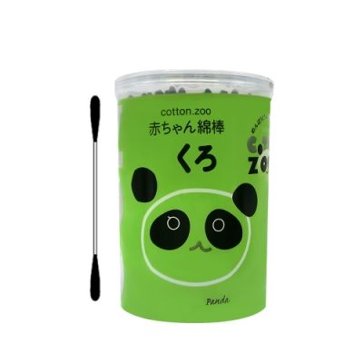 【COTTON ZOO】 黑色嬰幼兒耳鼻清潔專用棉棒(160支入)