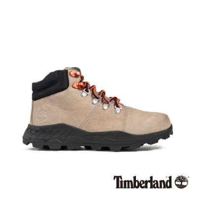 Timberland 男款灰色絨毛磨砂革運動鞋|A27PF