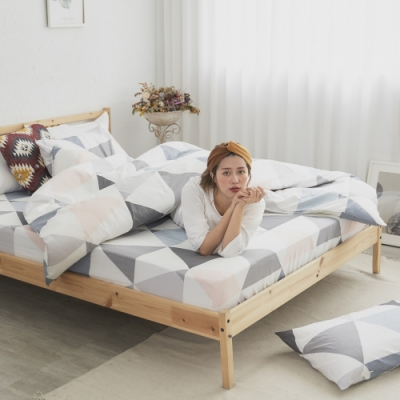 BUHO 天然嚴選純棉雙人四件式床包被套組(天空之鏡)