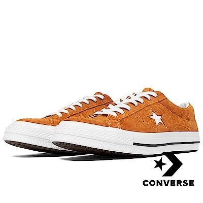 CONVERSE-ONE STAR男女休閒鞋-橘