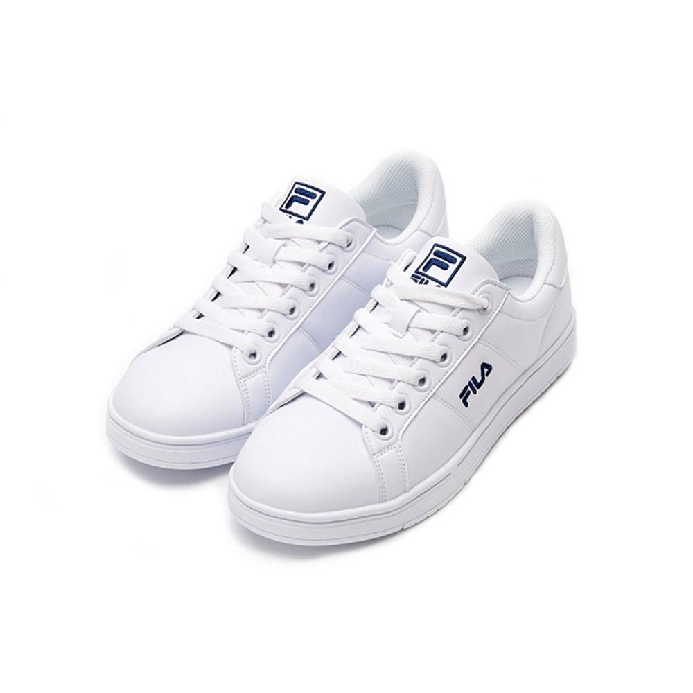 FILA CourtDeluxe 中性綁帶運動鞋-白 4-C117V-113